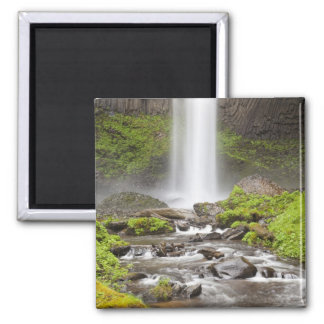 Latourell Falls, Columbia River Gorge, Oregon, Square Magnet