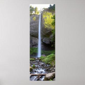 Latourell Falls Panorama Poster
