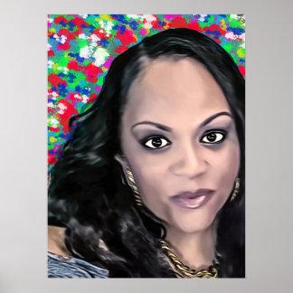Latoya in color selfie poster