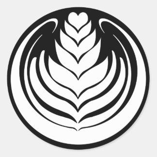 Latte Art Tulip Round Sticker