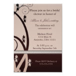 Latte Caberne Floral Vine Bridal Shower Invitation