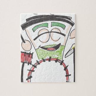 latte drummer color jigsaw puzzle