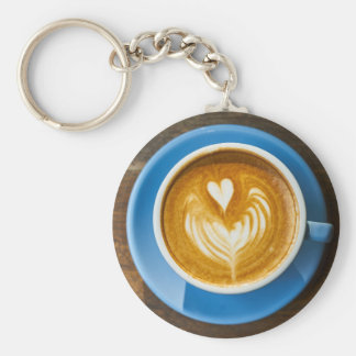 Latte Heart Art Keychain