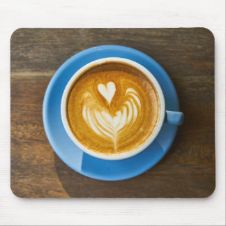 Latte Heart Art Mouse Pad