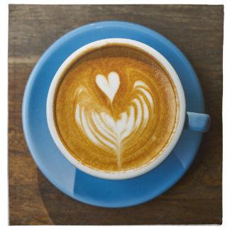 Latte Heart Art Napkin