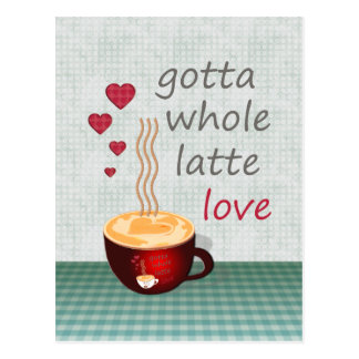 Latte Love Postcard
