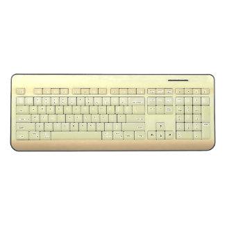 Latte Milk Beige Watercolor Ombre Gradient Coffee Wireless Keyboard