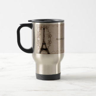 Latte Paris Grunge Travel Mug