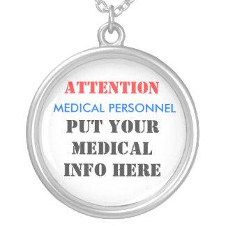 L'ATTENTION, PERSONNEL MÉDICAL, A MIS VOTRE MEDICA PENDENTIF ROND