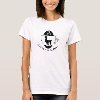 Lattes and Llamas Logo t-shirt