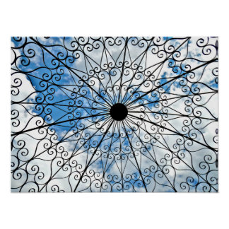 Lattice and Sky Poster