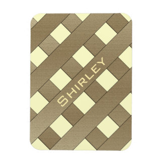 Lattice Fence by Shirley Taylor Rectangular Photo Magnet