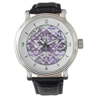 Lattice Floral Soft Purple Watch vintage