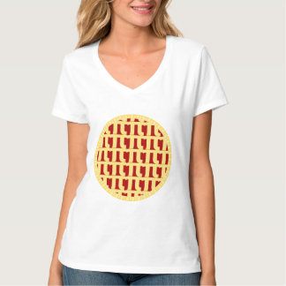 Lattice Pie - Red (Cherry/Strawberry/etc) - Pi Day T-Shirt