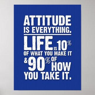 L'attitude est tout affiche - bleu