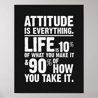L'attitude est tout affiche - noir