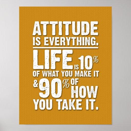 L'attitude est tout affiche - orange