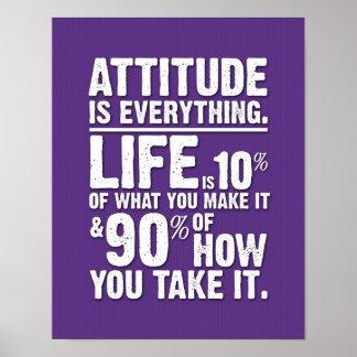 L'attitude est tout affiche - pourpre