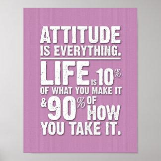 L'attitude est tout affiche - rose