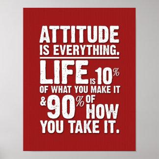 L'attitude est tout affiche - rouge