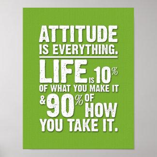 L'attitude est tout affiche - vert