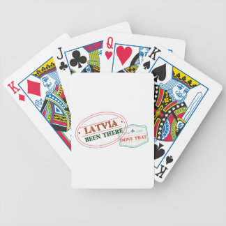 Latvia Been There Done That Bicycle Playing Cards