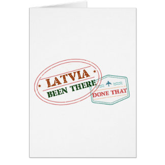 Latvia Been There Done That Card