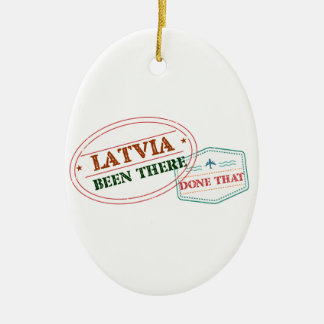 Latvia Been There Done That Ceramic Oval Ornament