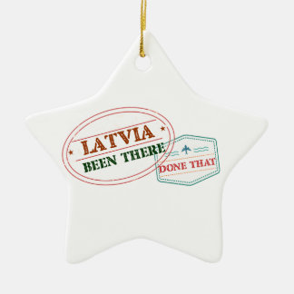 Latvia Been There Done That Ceramic Star Ornament