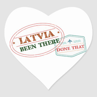 Latvia Been There Done That Heart Sticker
