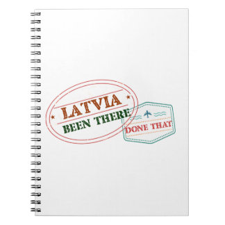 Latvia Been There Done That Notebook