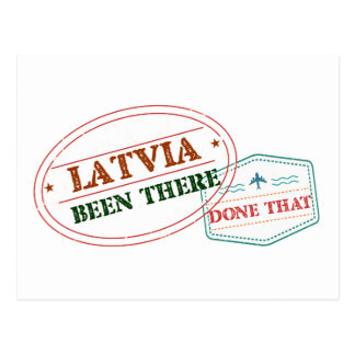 Latvia Been There Done That Postcard