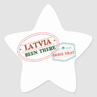 Latvia Been There Done That Star Sticker