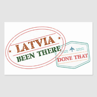 Latvia Been There Done That Sticker