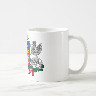 Latvia coat of arms coffee mug