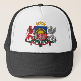 latvia emblem trucker hat
