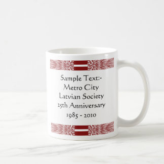 Latvia eText ~ Flagcolor Map Mug