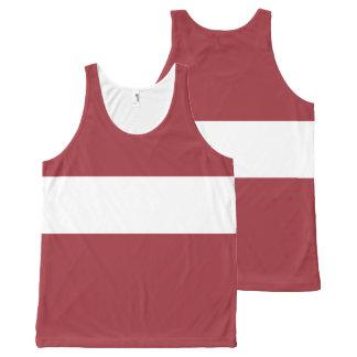 Latvia Flag All-Over-Print Tank Top