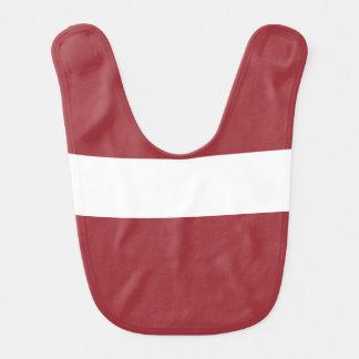Latvia Flag Baby Bib