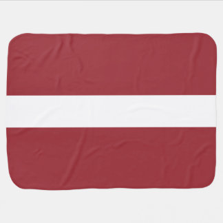 Latvia Flag Baby Blanket
