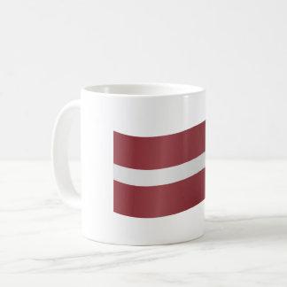 Latvia Flag Coffee Mug