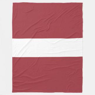 Latvia Flag Fleece Blanket