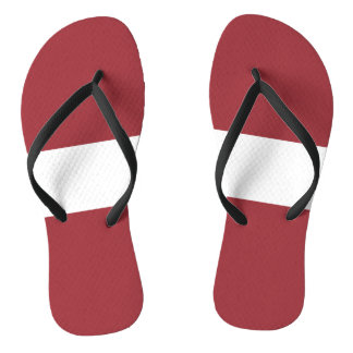 Latvia Flag Flip Flops