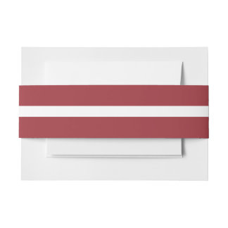 Latvia Flag Invitation Belly Band