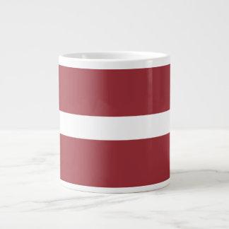 Latvia Flag Large Coffee Mug