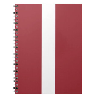 Latvia Flag Notebook