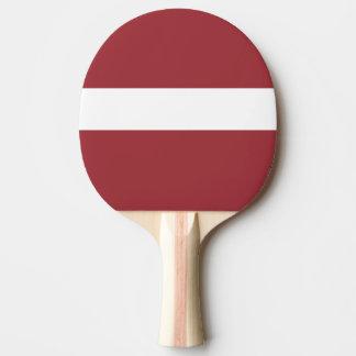 Latvia Flag Ping Pong Paddle