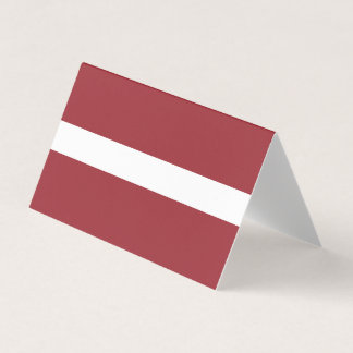Latvia Flag Place Card