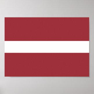 Latvia Flag Poster