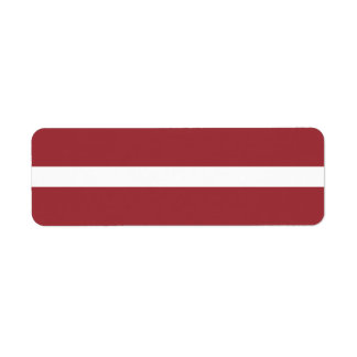 Latvia Flag Return Address Label